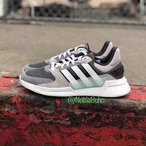 Adidas Run 90s Shoes Grey Ice Mint EE9882